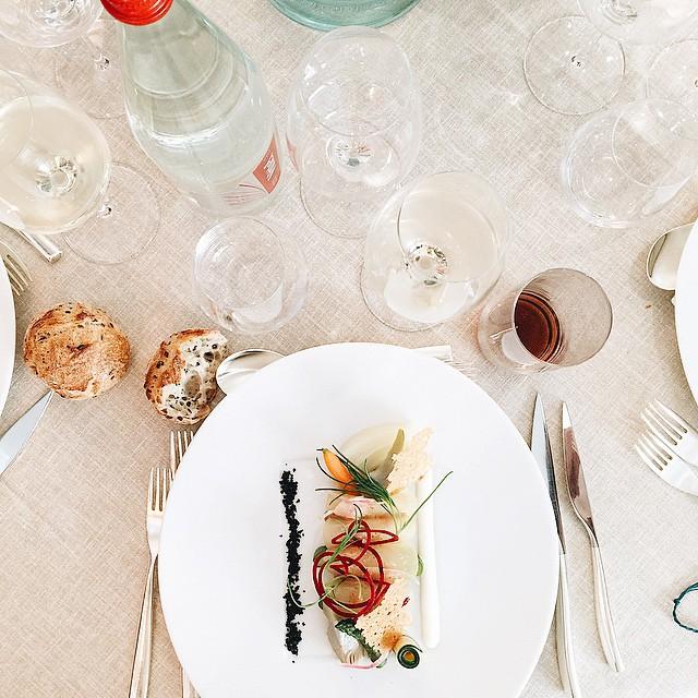 Déjeuner avec @popandpartners ❤️ #lecoqsportif #lcstennis #rolandgarros