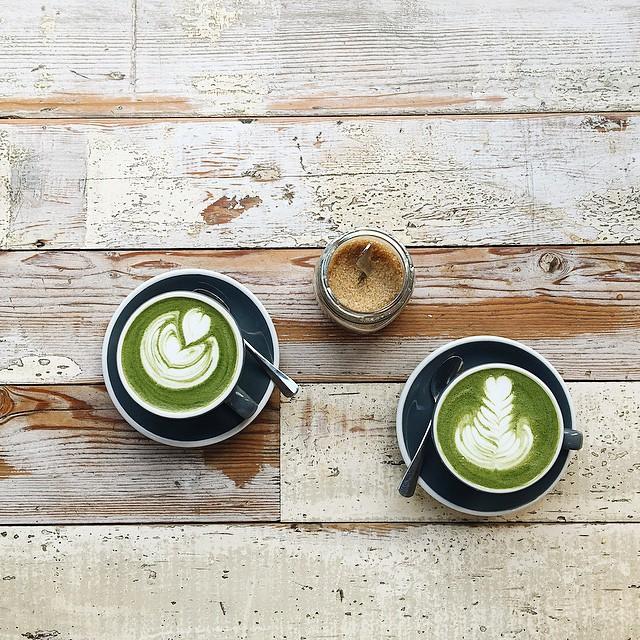 Matcha Latte @timberyarduk ☕️ #matchalatte #instafood #london