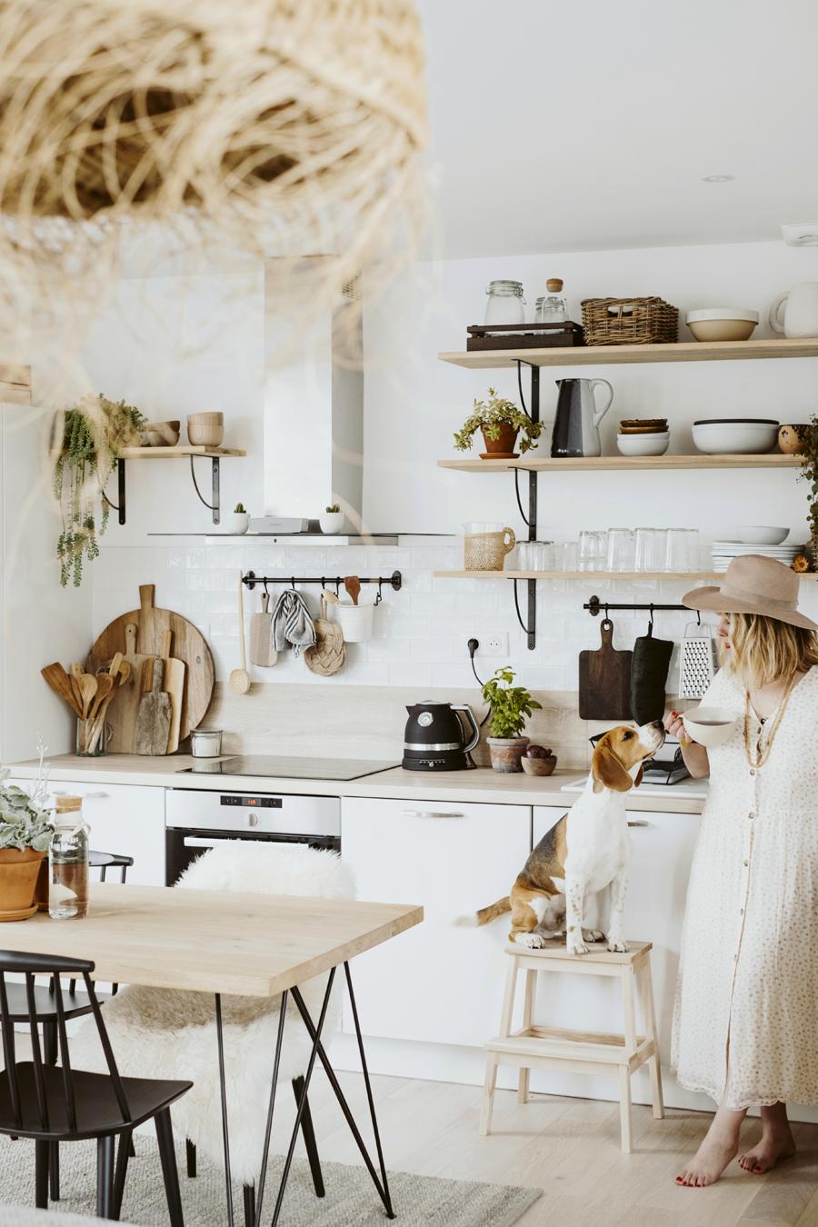 Cuisine Avec Parquet Gris déco cuisine : notre nouvelle kitchen - les demoizelles