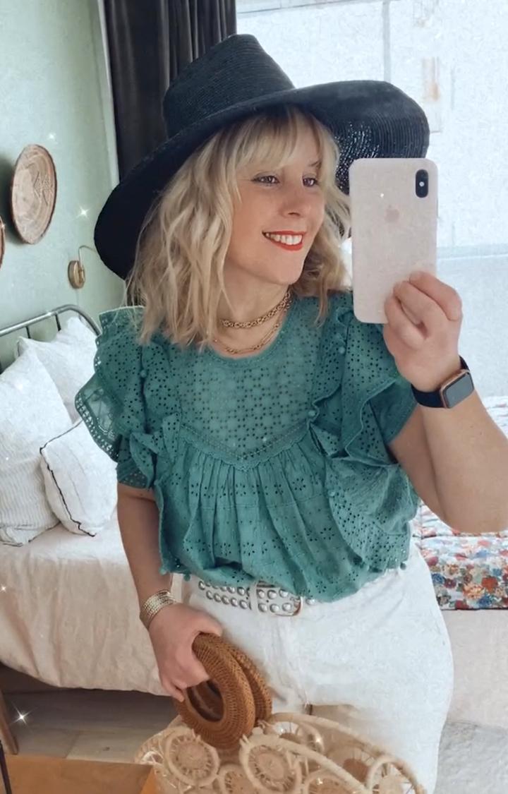 blouse sezane clarence